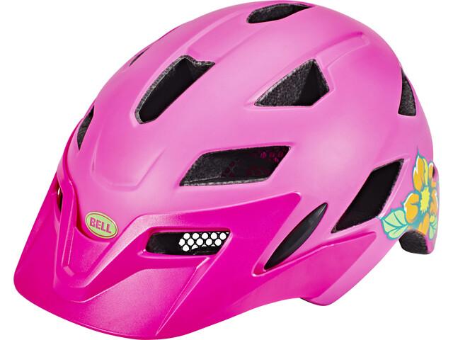 Smuk Bell Sidetrack Cykelhjelm Børn, matte pink/lime | Find CK-07